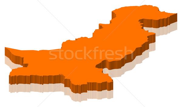 Kaart Pakistan politiek verscheidene abstract wereld Stockfoto © Schwabenblitz
