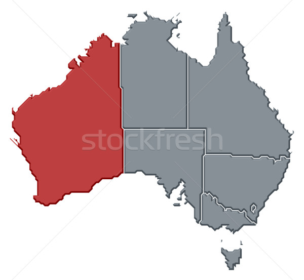 Map of Australia, Western Australia highlighted Stock photo © Schwabenblitz