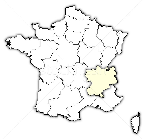 Map of France, Rh Stock photo © Schwabenblitz