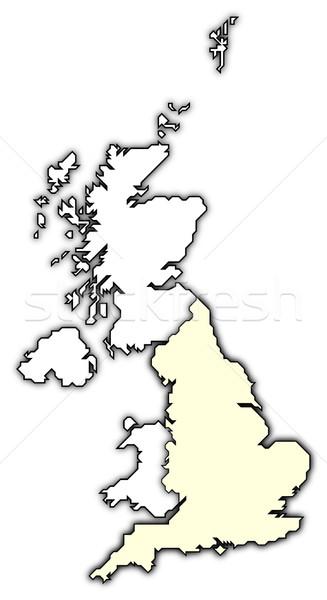 Mappa Regno Unito Inghilterra politico parecchi paesi Foto d'archivio © Schwabenblitz
