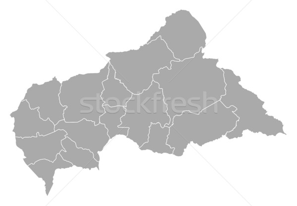 Stock photo: Map - Central African Republic