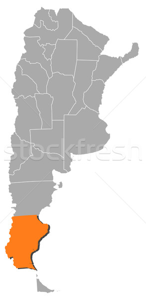 Map of Argentina, Santa Cruz highlighted Stock photo © Schwabenblitz