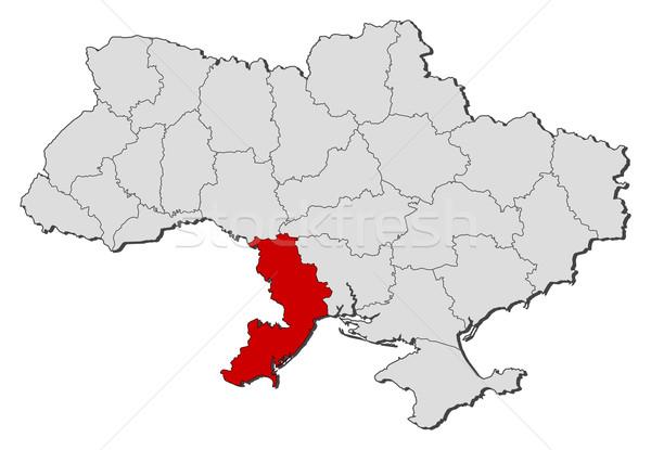 Map of Ukraine, Odessa highlighted Stock photo © Schwabenblitz