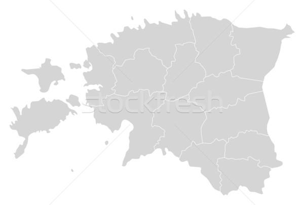 карта Эстония политический несколько аннотация Мир Сток-фото © Schwabenblitz
