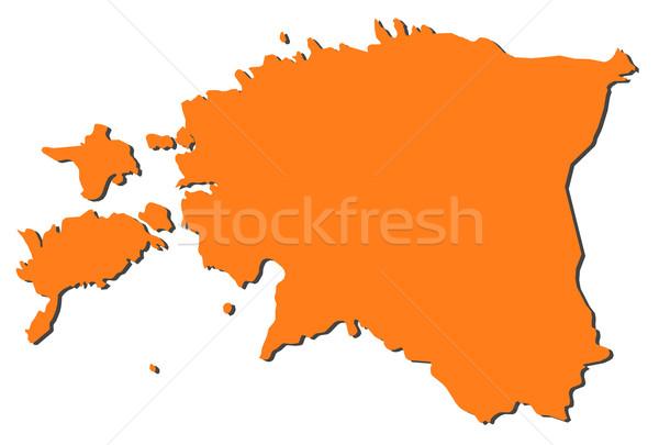 Mapa Estônia político vários abstrato mundo Foto stock © Schwabenblitz