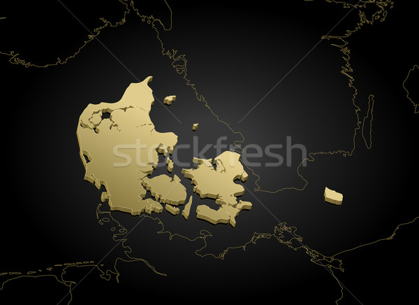 Map of Danmark Stock photo © Schwabenblitz