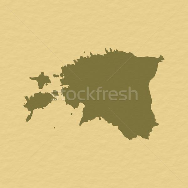 Harita Estonya siyasi birkaç soyut dünya Stok fotoğraf © Schwabenblitz