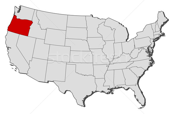 Kaart Verenigde Staten Oregon politiek verscheidene abstract Stockfoto © Schwabenblitz