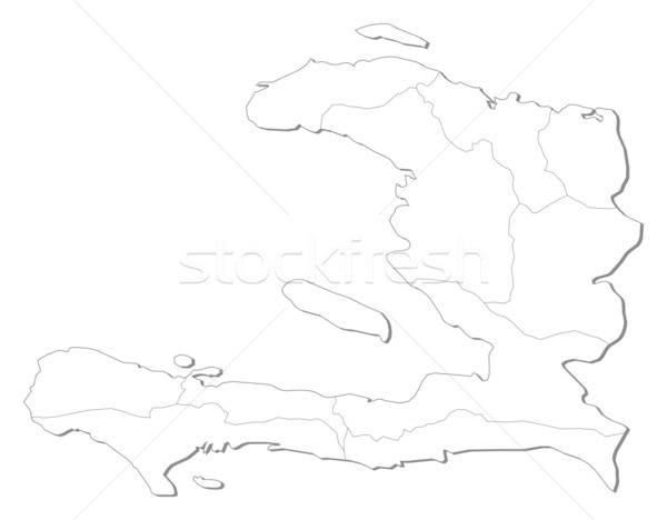 Harita Haiti siyasi birkaç soyut sanat Stok fotoğraf © Schwabenblitz