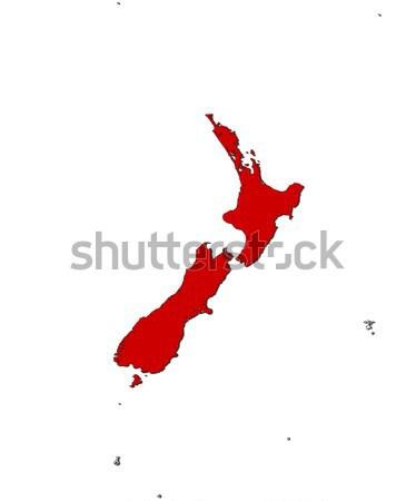 Map of New Zealand Stock photo © Schwabenblitz