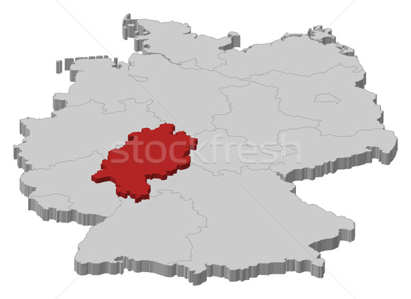 Map of Germany, Hesse highlighted Stock photo © Schwabenblitz