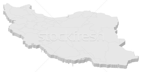 地図 イラン 政治的 いくつかの 抽象的な 世界 ストックフォト © Schwabenblitz