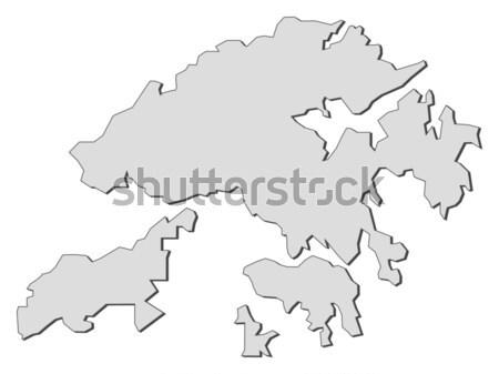 Map of Hong Kong (China) Stock photo © Schwabenblitz