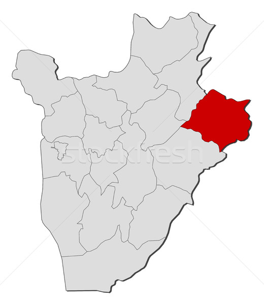 Map - Burundi, Cankuzo Stock photo © Schwabenblitz