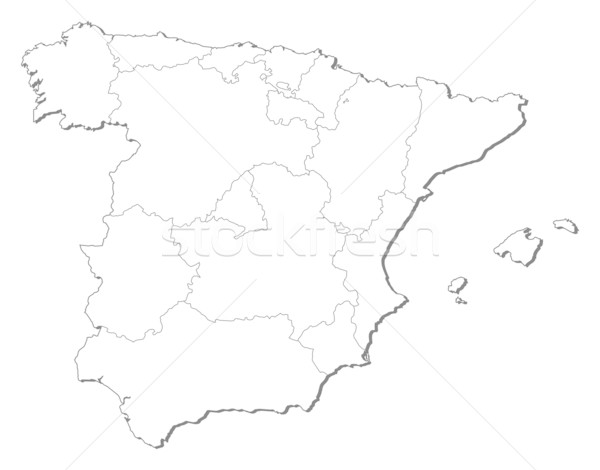 Map of Spain Stock photo © Schwabenblitz