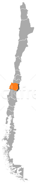 Map of Chile, Maule highlighted Stock photo © Schwabenblitz