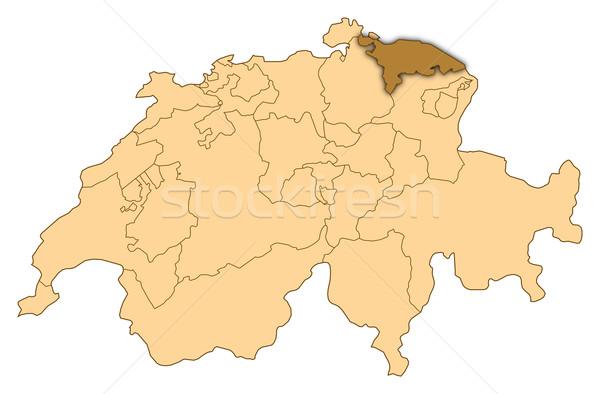 Map of Switzerland, Thurgau highlighted Stock photo © Schwabenblitz