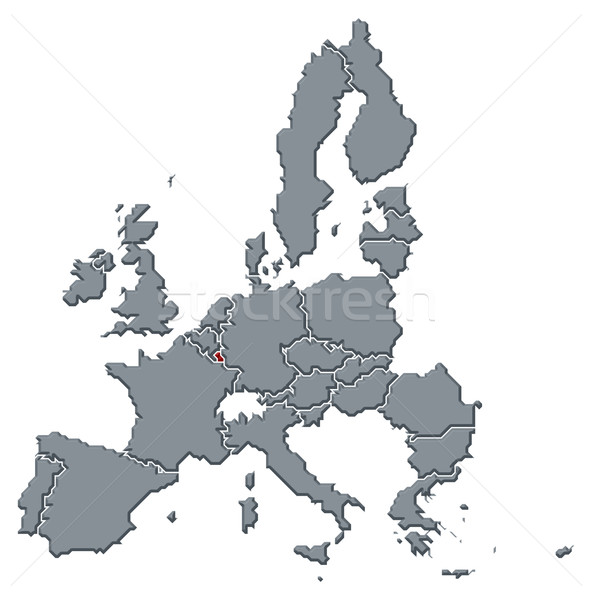 Map of the European Union, Luxembourg highlighted Stock photo © Schwabenblitz
