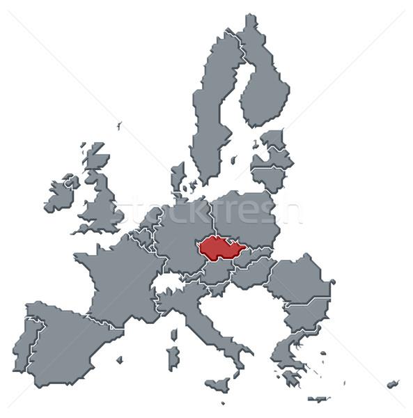 Kaart europese unie republiek politiek verscheidene Stockfoto © Schwabenblitz