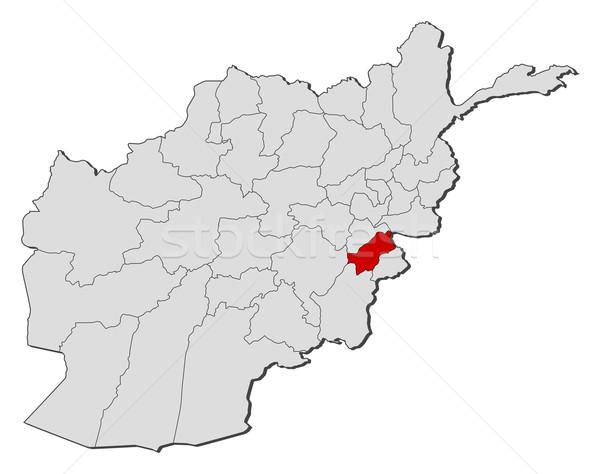 Mapa Afeganistão político vários globo abstrato Foto stock © Schwabenblitz