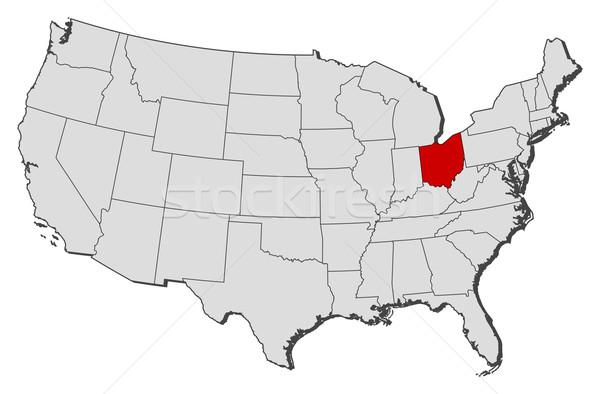 Térkép Egyesült Államok Ohio politikai néhány absztrakt Stock fotó © Schwabenblitz