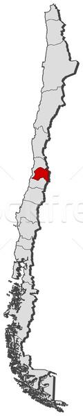 Térkép Chile régió politikai néhány régiók Stock fotó © Schwabenblitz