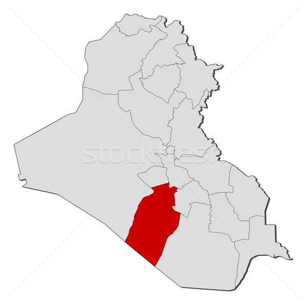 Mapa Iraque político vários abstrato terra Foto stock © Schwabenblitz