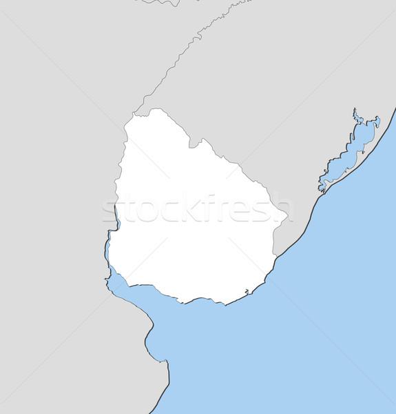 Térkép Uruguay politikai néhány absztrakt világ Stock fotó © Schwabenblitz