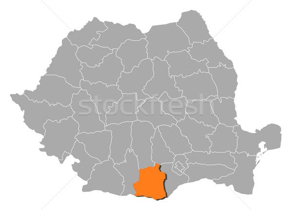 Map of Romania, Teleorman highlighted Stock photo © Schwabenblitz
