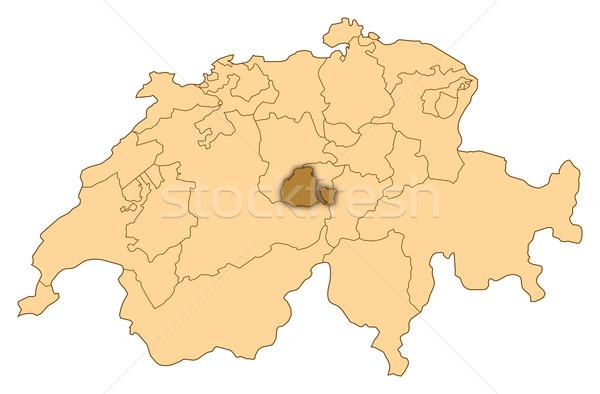 Harita İsviçre soyut dünya arka plan iletişim Stok fotoğraf © Schwabenblitz