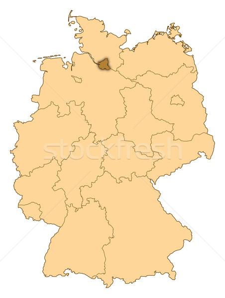 Kaart Duitsland hamburg abstract achtergrond communicatie Stockfoto © Schwabenblitz