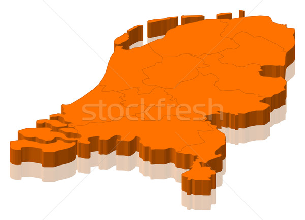 Map of Netherlands Stock photo © Schwabenblitz