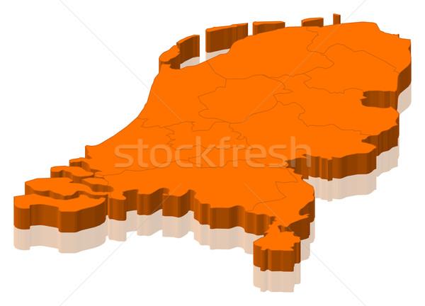 Karte Niederlande politischen mehrere abstrakten Welt Stock foto © Schwabenblitz