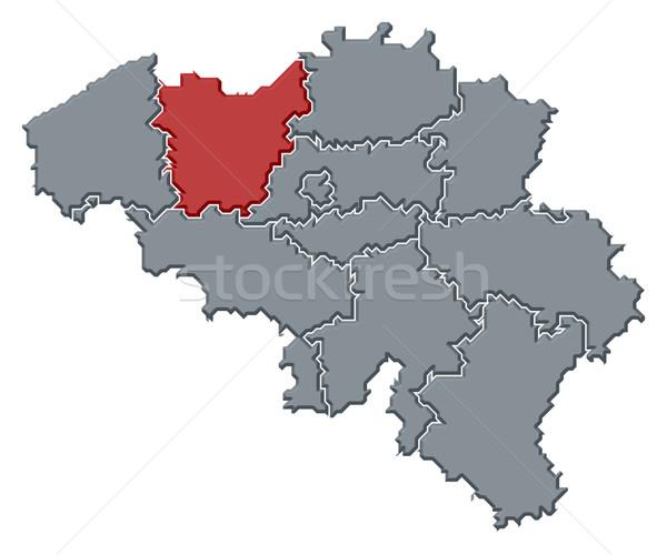 Térkép Belgium politikai néhány absztrakt háttér Stock fotó © Schwabenblitz