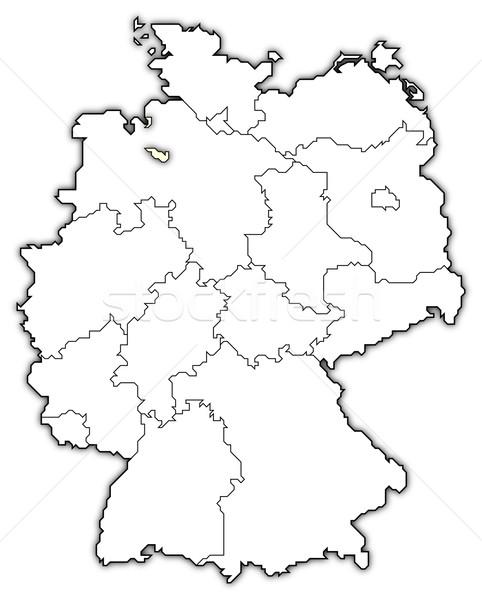 Foto stock: Mapa · Alemanha · político · vários · abstrato · fundo