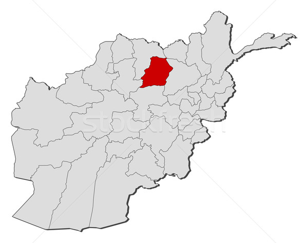 Map of Afghanistan, Samangan highlighted Stock photo © Schwabenblitz