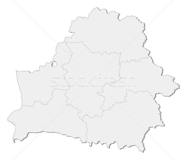 Stock fotó: Térkép · Fehéroroszország · politikai · néhány · absztrakt · Föld
