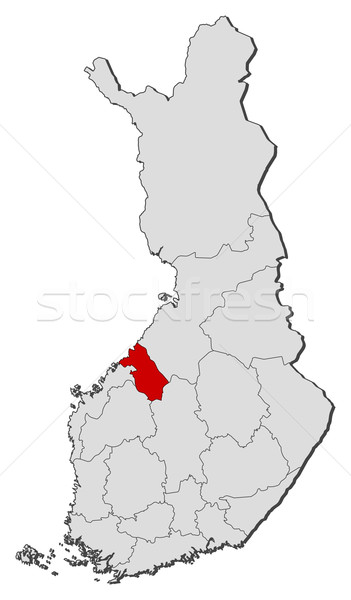 Map of Finland, Central Ostrobothnia highlighted Stock photo © Schwabenblitz
