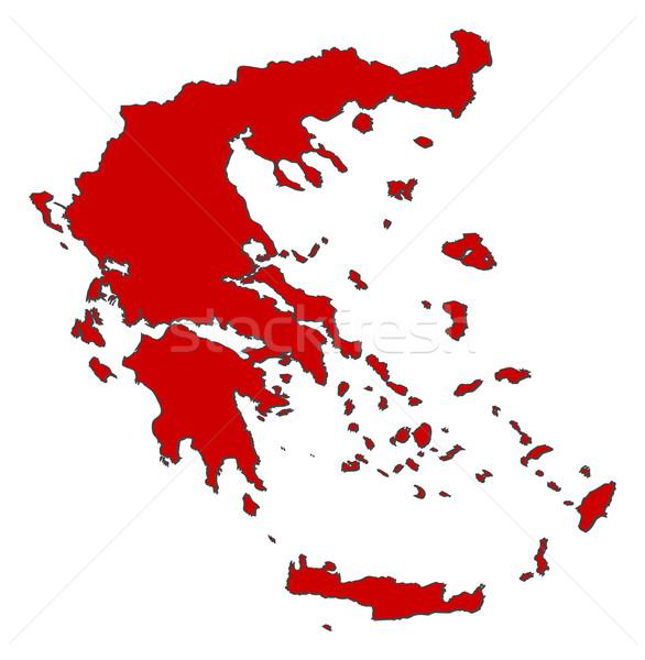 Mapa Grécia político vários abstrato mundo Foto stock © Schwabenblitz