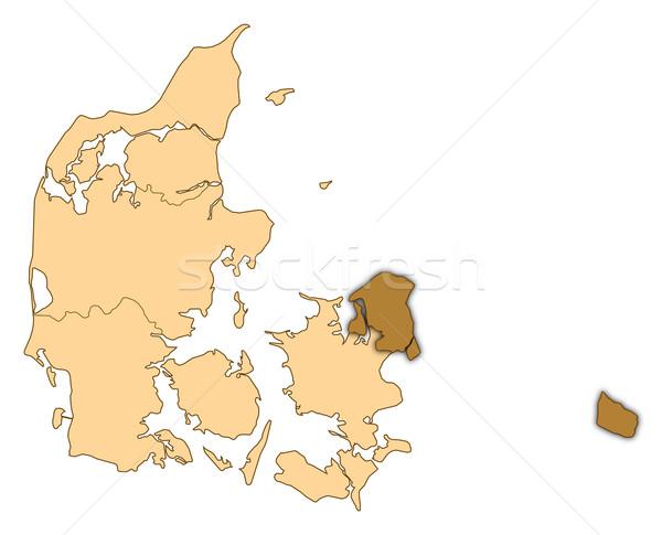 карта Дания регион аннотация фон связи Сток-фото © Schwabenblitz
