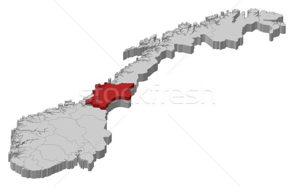 Map of Norway, Nord-Tr Stock photo © Schwabenblitz