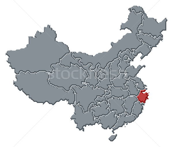 Map of China, Zhejiang highlighted Stock photo © Schwabenblitz