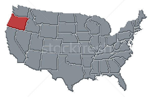 Map of the United States, Oregon highlighted Stock photo © Schwabenblitz