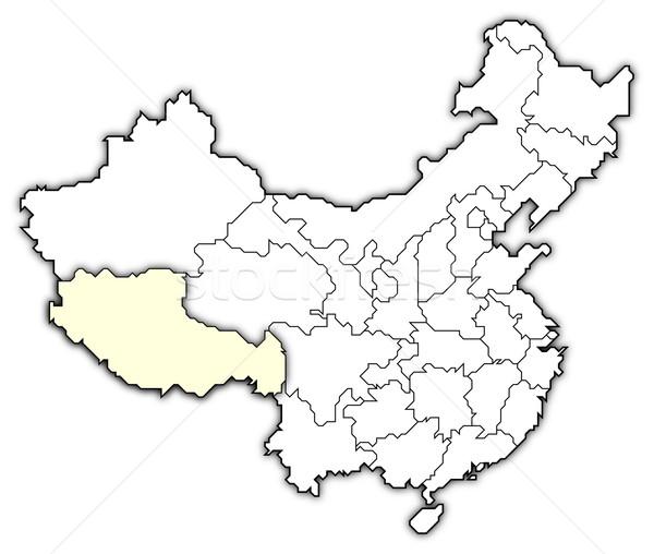 Map of China, Tibet highlighted Stock photo © Schwabenblitz