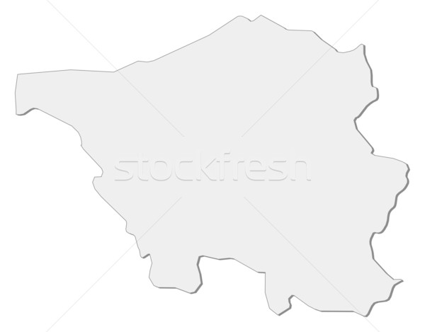 Map of Saarland (Germany) Stock photo © Schwabenblitz
