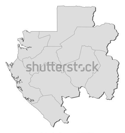 Map - Gabon Stock photo © Schwabenblitz