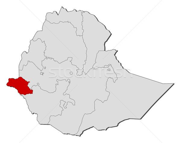 Pokaż Etiopia streszczenie czerwony komunikacji czarny Zdjęcia stock © Schwabenblitz