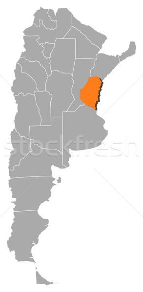 Harita Arjantin siyasi birkaç dünya soyut Stok fotoğraf © Schwabenblitz