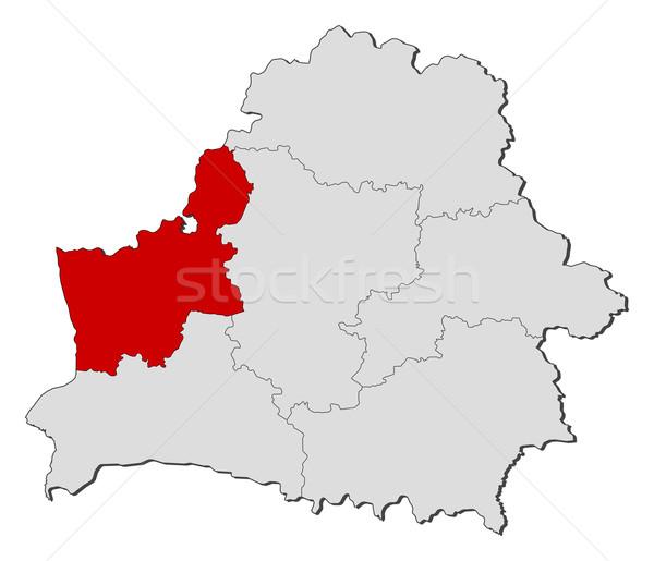 Harita Belarus siyasi birkaç dünya soyut Stok fotoğraf © Schwabenblitz