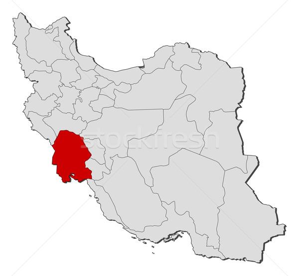 Map of Iran, Khuzestan highlighted Stock photo © Schwabenblitz